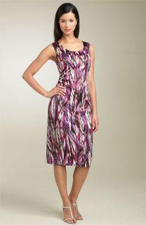 Maggy London Ruched Print Sheath Dress