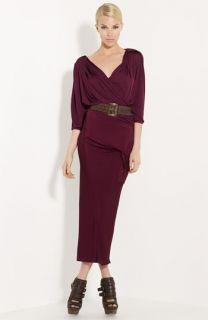 Donna Karan Collection Slashed Jersey Dress