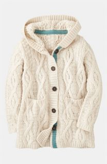 Mini Boden Chunky Cable Knit Cardigan (Little Girls & Big Girls)