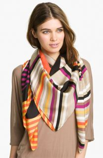 Yarnz Dotted Stripes Silk Scarf