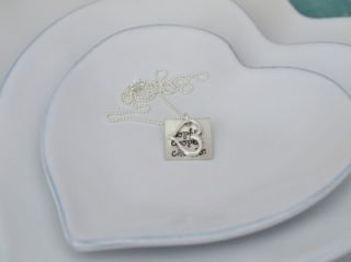 Sterling Silver Hand Stamped Personalized Necklace Mother Custom Mommy