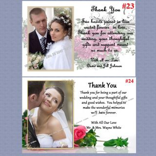 Thank You Cards Stickers Personalized CD & DVD Wedding Album Custom