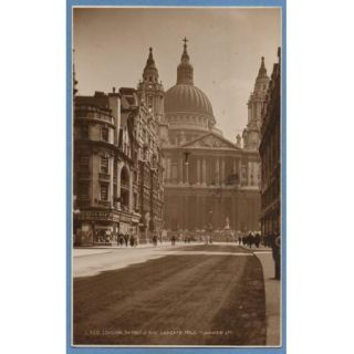 London RPPC   St. Pauls & Ludgate Hall   Curzon Bros.   Judges
