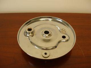 Vintage Cushman Chrome Front Wheel Brake Backing Plate 2