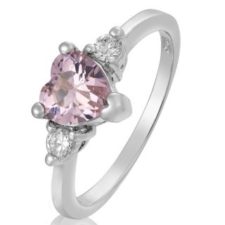 Dec Heart Cut Pink Sapphire Tourmaline Ring Women Dress Jewelry 8 Q