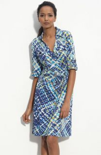 Suzi Chin for Maggy Boutique Faux Wrap Jersey Shirtdress