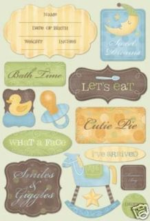 Karen Foster Cutie Pie Baby Boy Stickers