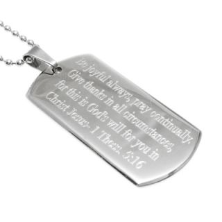 Stainless Steel Personalized 2 Dog Tag Pendant with Necklace