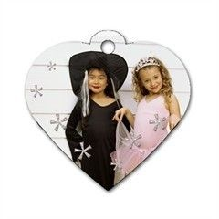 Custom Personalized Heart Dogtag Double Sided 2 sides Photo Dog Tag