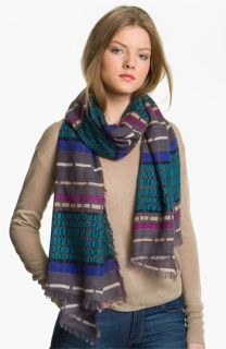 Halogen® Dash Stripe Wool Challis Scarf