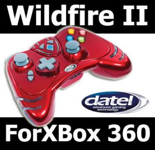 Red Datel Wildfire II 2 Wireless Controller Xbox 360
