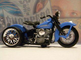 Custom Harley Davidson 1948 FL Panhead Trike 1 18 Scale