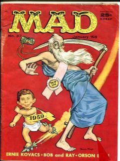 Mad Magazine 37 Jack Davis Alfred E Neuman 1958 Cool G VG