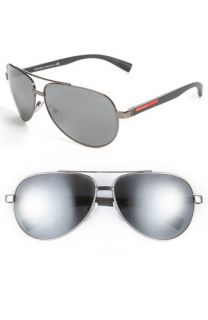 Prada Metal Aviator Sunglasses