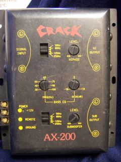 Crack AX 200 Line Level Crossover Subwoofer Car Stereo