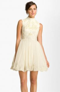 Ted Baker London Telago Embroidered Tulle Frock