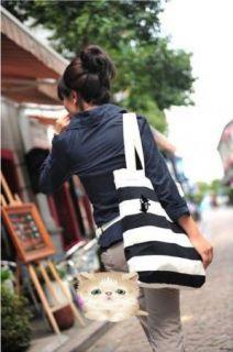 2X Super Cute Black White Cat Brooch