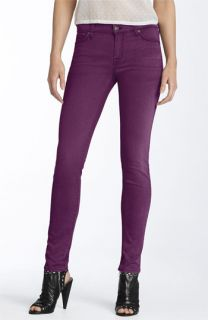 7 For All Mankind® Overdyed Skinny Leg Jeans (Dark Violet)