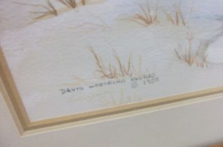 1985 David Woodring Hughes Signed Painting of Cardinal Downington Art