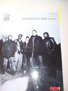Dave Matthews Band Guitar Vocals with Tablature Song Book