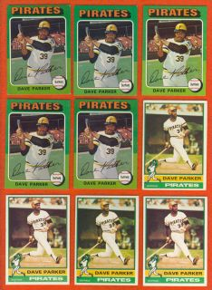 273 Topps Dave Parker Cards 1975 1991