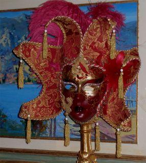 Authentic Venetian Mask Swarovski Crystals Original
