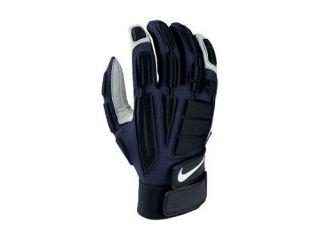 II Lineman Football Adult Black Navy Gloves Sz Medium