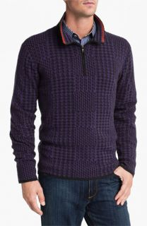 Robert Graham Anak Quarter Zip Cashmere Sweater