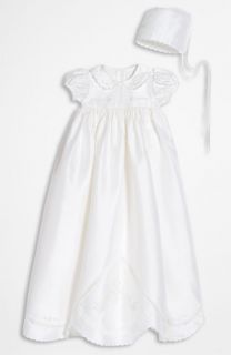 Little Things Mean a Lot Dupioni Silk Christening Gown (Infant)
