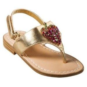 Miss Trish Target Toddler Gold Strawberry Thong Sandal