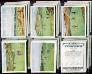 Tobacco Card Set, WD & HO Wills, GOLFING, Golf Course, St Andrews etc