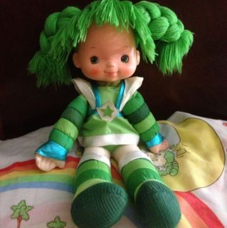 VINTAGE 1983 Hallmark Rainbow Brite PATTY OGREEN Doll 18 plush bright