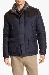 Ted Baker London Nohood Puffer Jacket with Faux Fur Trim