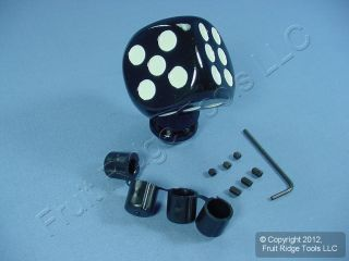 Automotive Black Custom Shift Knob New Lucky Dice Hot Rod PM 2273