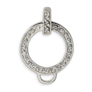 sterling silver cz charm holder pendant