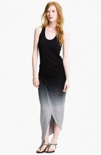 Young, Fabulous & Broke Sassy Faux Wrap Maxi Dress