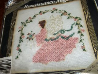 vintage Mill HIll crystal bouquet renaissance angel cross stitch bead