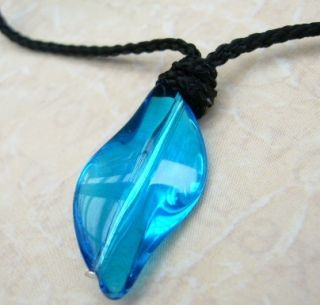 Add Water Mermaid Style Blue Crystal Necklace Charm Pendant Xmas H2O