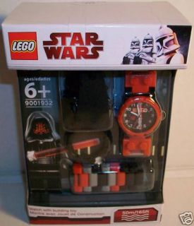 Lego Star Wars Darth Maul Watch Minifigure Set Brand New