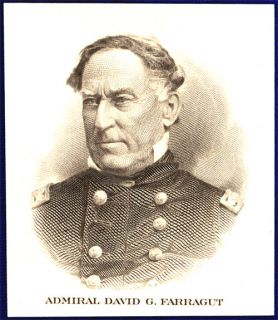American Bank Note Co Engraving Admiral David Farragut