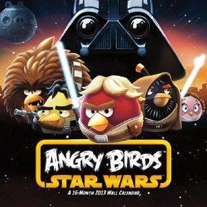 ANGRY BIRDS STAR WARS 2013 WALL CALENDAR STANDARD 16 MONTH JEDI BIRDS