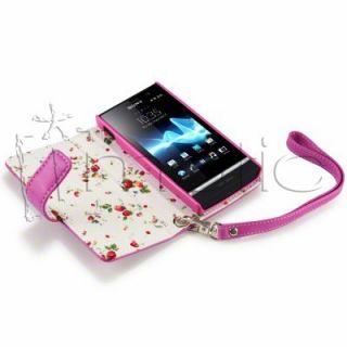 Funda de Cuero para Sony Ericsson Xperia U (ST25i) color Rosa.