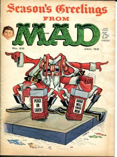 Mad Magazine 68 1962 Alfred E Neuman x mas Issue G VG
