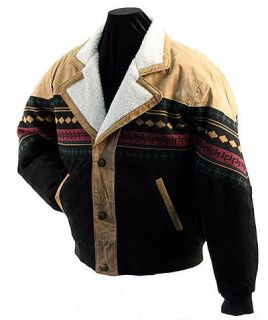 Dakota Leather Co ® Navajo Style Suede Leather Jacket New s M 3XL