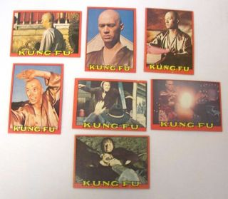 Vintage 1973 Topps Kung Fu David Carradine Trading Card Lot 39 Cards