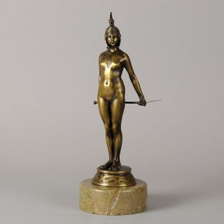 Authentic Art Deco Bronze Figure by Carl Friedrich Piper