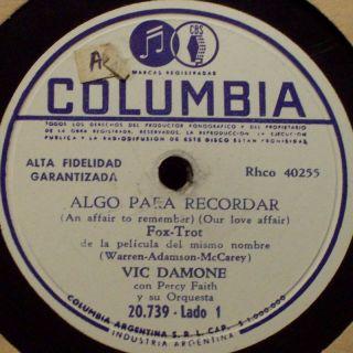 Vic Damone Algo Para Recordar La Calle Donde u Vives