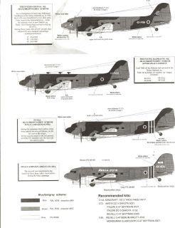 Skys Decals 1/144 DOUGLAS C 47 DC 3 DAKOTA Israeli Air Force