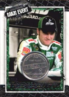 DALE EARNHARDT JR RARE 2010 WHEELS MAIN EVENT MASTERPIECE COIN CARD #1