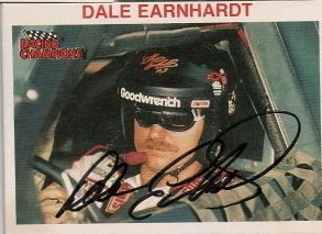 Dale Earnhardt Autographed 1992 Racing Champions Card 3